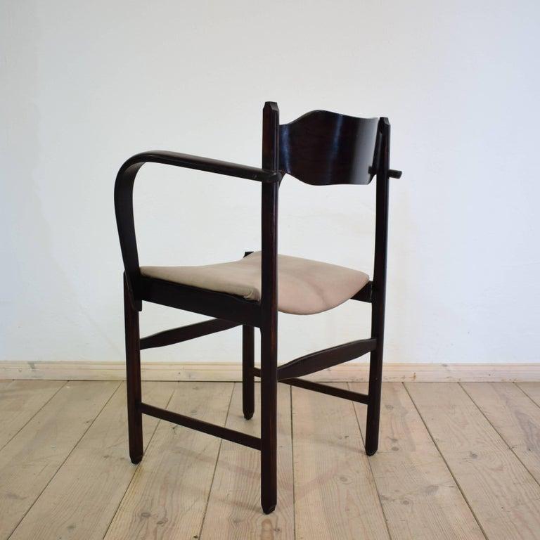 Leather Early 20th Italian Art Deco Armchair For Sale