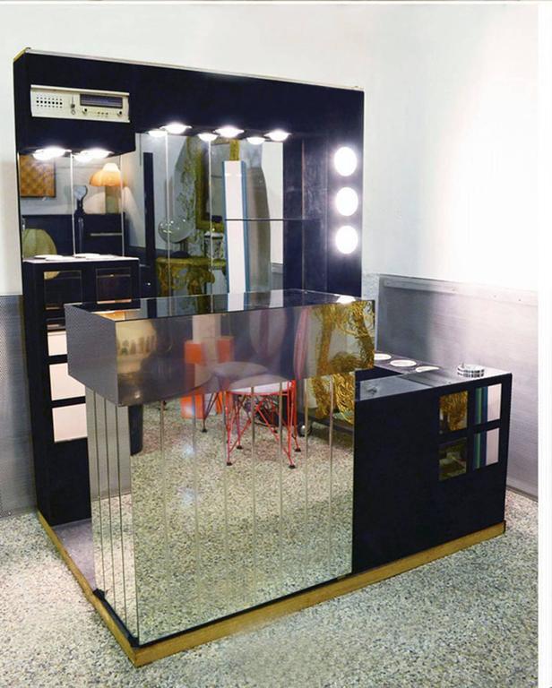 Italian 1960s bar furniture with fridge radio and two - Mobile bar anni 70 ...