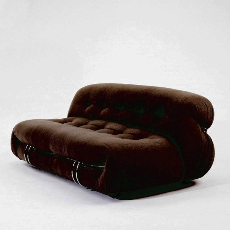 Afra and Tobia Scarpa Two-Seat Sofa Soriana for Cassina ...