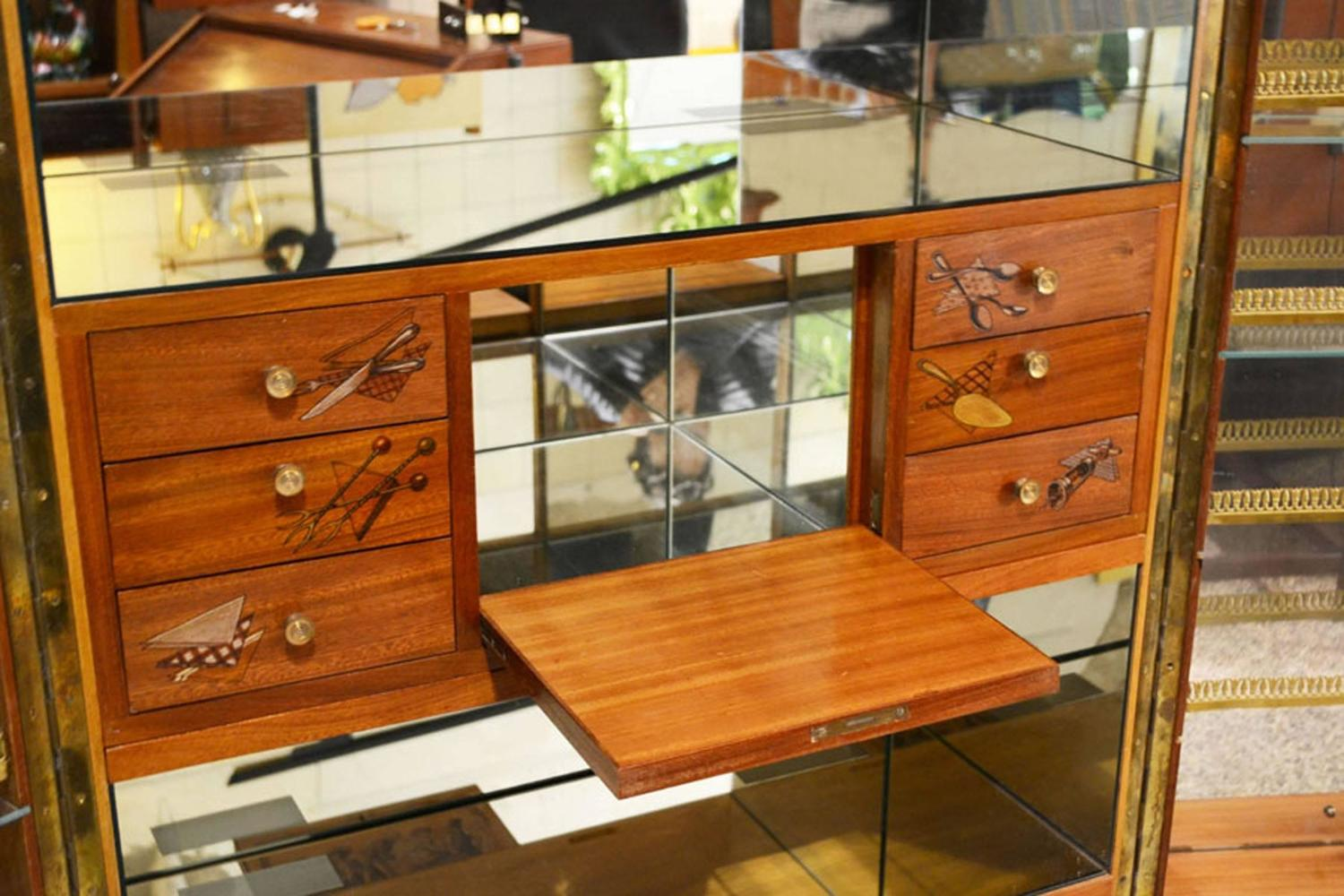 1940s wooden bar cabinet on wheels internally lighted and for 1940s kitchen cabinets for sale