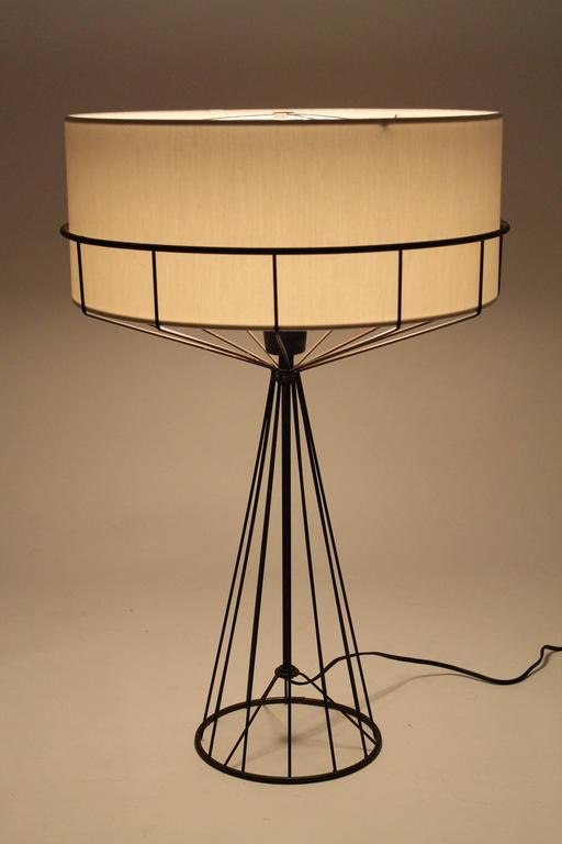 Tony paul table lamp from the wire series mid century modern 1950s iconic lighting art piece with a distinctive modern design way ahead of its time for greentooth Image collections