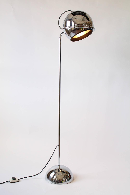 Chrome Eyeball Floor Lamp