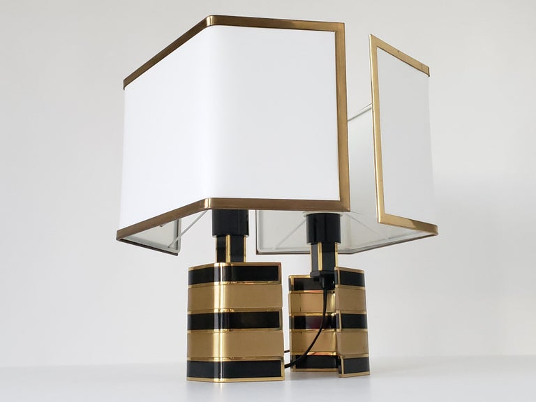 Pair of Romeo Rega Solid Brass Table Lamp, 1970s, Italia For Sale 6