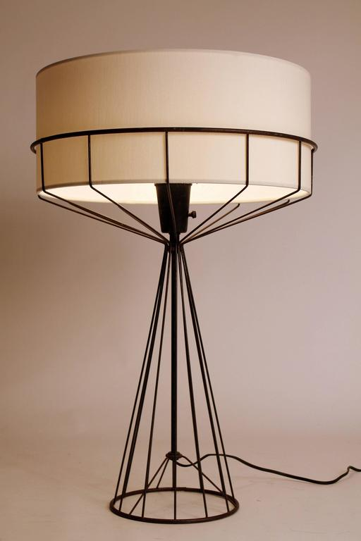 Tony Paul Table Lamp from the Wire Series, Mid Century Modern 1950s ...