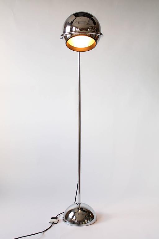 Massive Minimalist Chrome Eyeball Floor Lamp Vintage, 1970s, USA ...