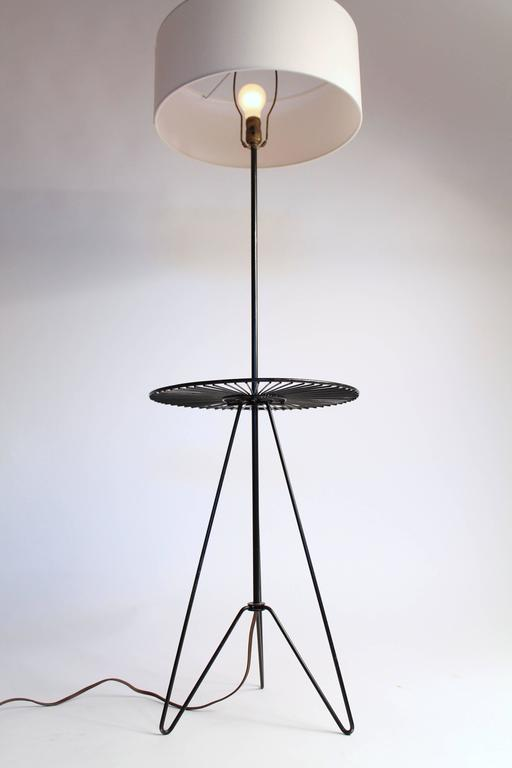 American Wire Floor/Table Lamp in the Style of Tony Paul, Mid-Century, 1950s, USA For Sale