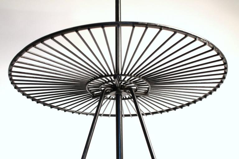 Wire FloorTable Lamp in the Style of