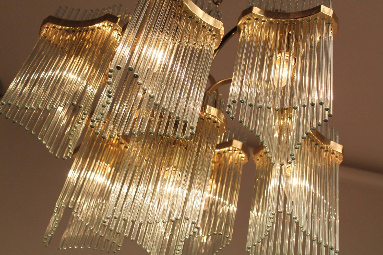 Massive cascading sciolari seven arms glass rods and brass massive cascading sciolari seven arms glass rods and brass chandelier 1960s italy at 1stdibs arubaitofo Gallery