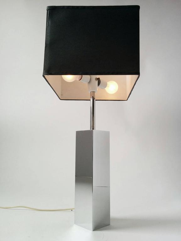3 Massive Reggiani Chrome Table Lamp, Mid-Century Modern, Italy, 1960s For Sale 1