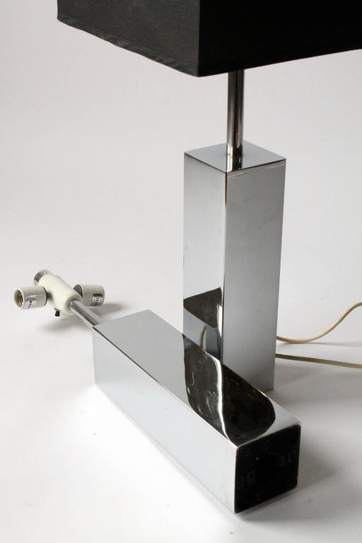 Mid-20th Century 3 Massive Reggiani Chrome Table Lamp, Mid-Century Modern, Italy, 1960s For Sale