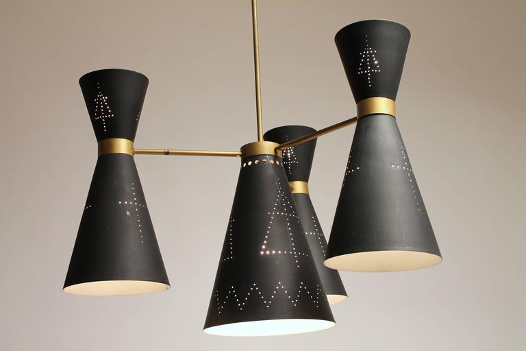 Mid-Century Modern 1950s Huge Church Diabolo / Hourglass   Chandelier , Italy  For Sale