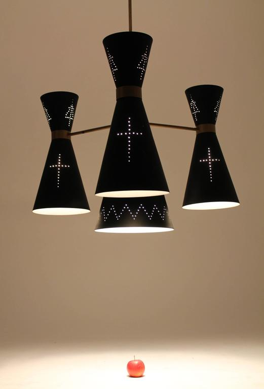 Mid-20th Century 1950s Huge Church Diabolo / Hourglass   Chandelier , Italy  For Sale
