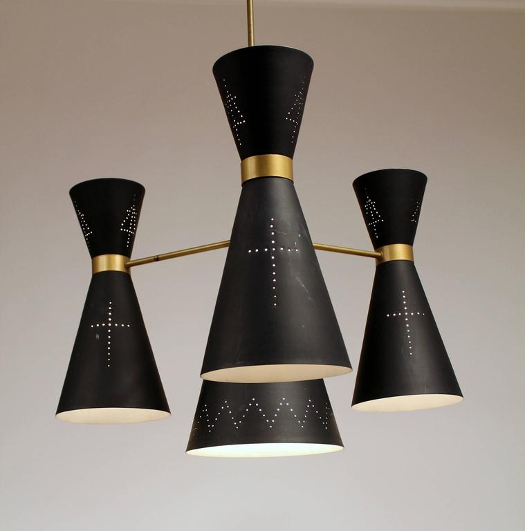 1950s Huge Church Diabolo / Hourglass   Chandelier , Italy  For Sale 1