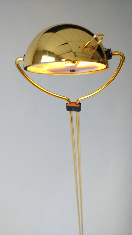 Gold-Plated Halogen Floor Lamp, Yuki from Stephano Cevoli, 1980s, Italia For Sale 4