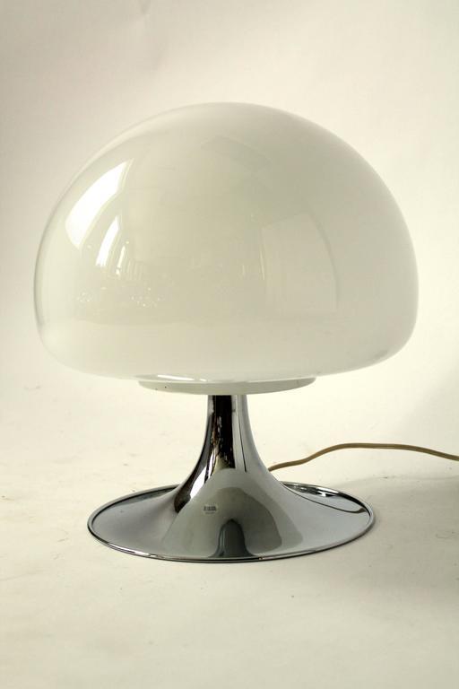 Reggiani Mushroom Glass Table Lamp 1970s Italia For Sale
