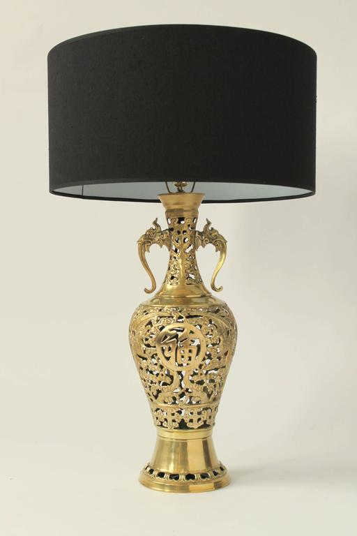 Finely Casted James Mont Attributed Solid Brass Table Lamps 1960s Usa