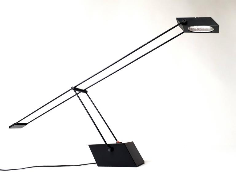 Long And Sleek Designed Halogen Table Lamp From The Late 1970s, Italia.  First Class