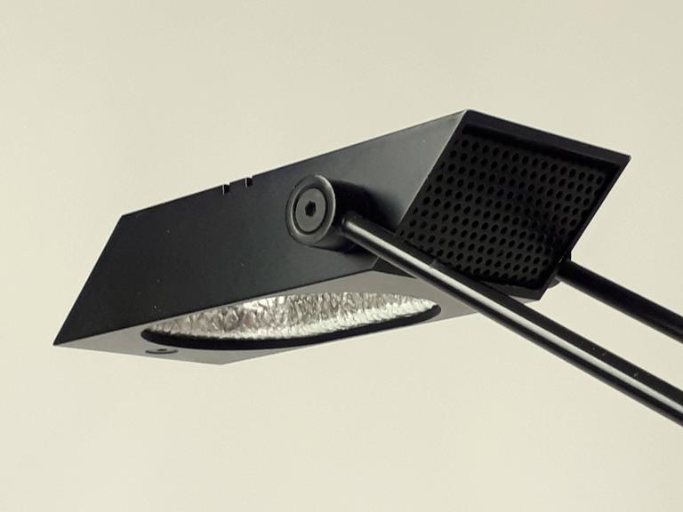 Aluminum Italian Halogen Table Lamp , 1970s For Sale