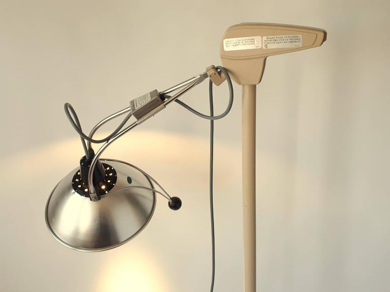 Cast Medical Floor Lamp, Mid-Century Modern, 1970s, USA For Sale