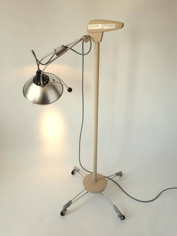 Industrial Medical Floor Lamp, Mid-Century Modern, 1970s, USA For Sale