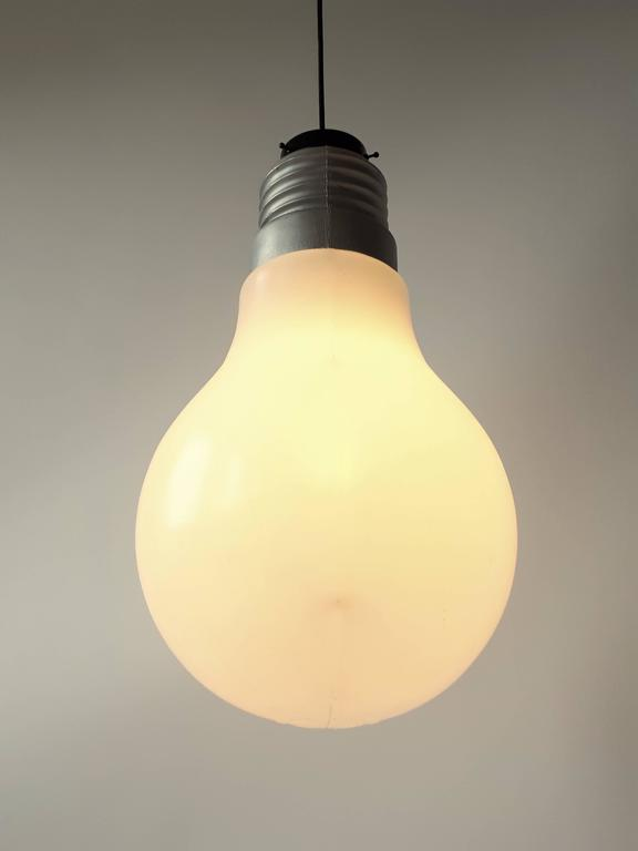 Plastic light bulb pendant from ingo maurer 1969 usa for sale at iconic oversize bulb bulb could be hang from the ceiling or lay loose on aloadofball Choice Image