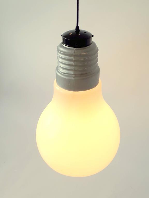 Mid Century Modern Plastic Light Bulb Pendant From Ingo Maurer 1969 Usa For