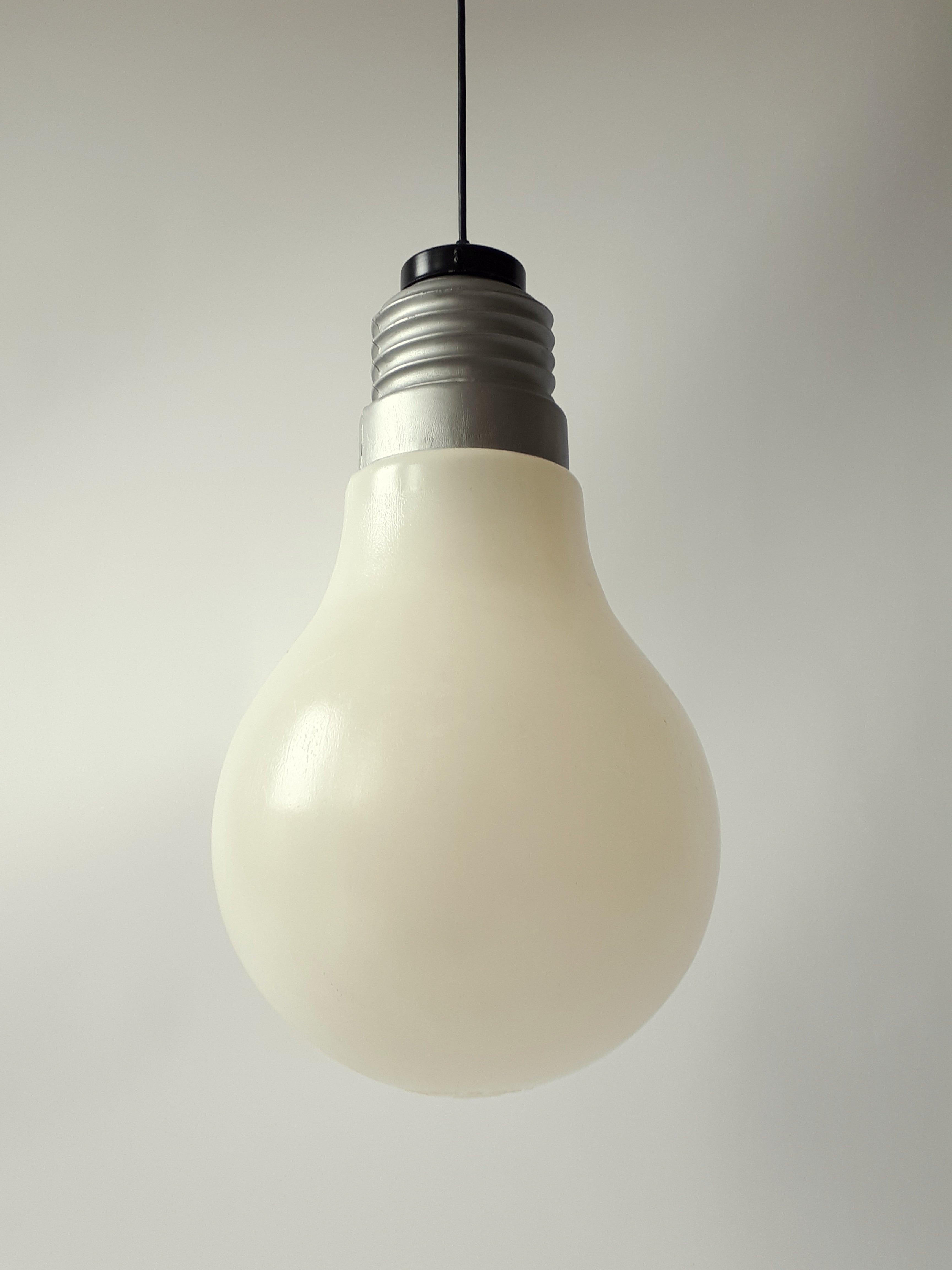 Plastic Light Bulb Pendant From Ingo Maurer, 1969, Usa For