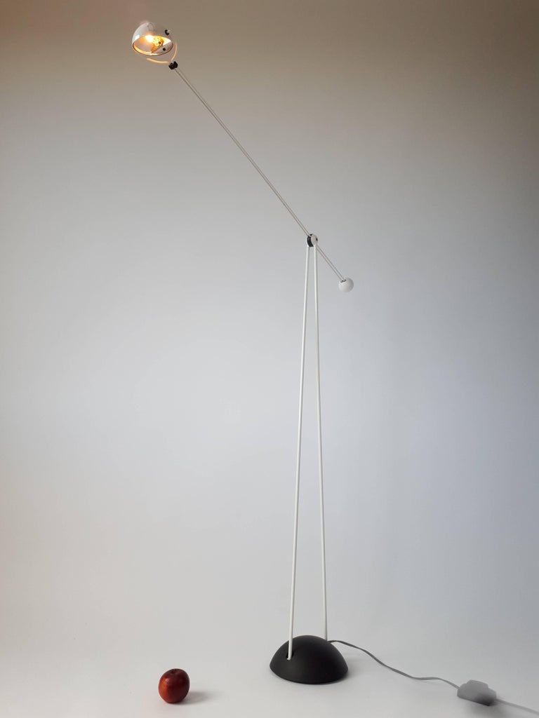 Enameled Modern Italian Halogen Floor Lamp 'Yuki' from Stephano Cevoli, 1983 For Sale
