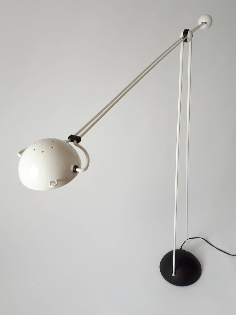 Steel Modern Italian Halogen Floor Lamp 'Yuki' from Stephano Cevoli, 1983 For Sale