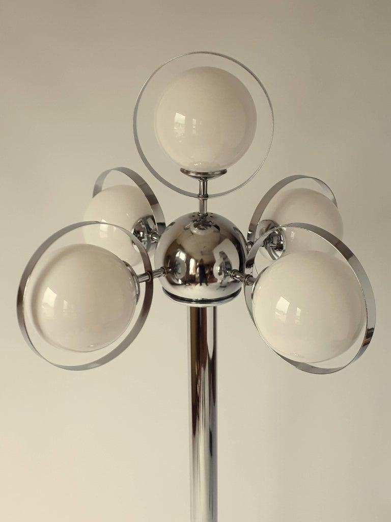 Atomic Molecule Chrome Floor Lamp 1970s Usa For Sale At 1stdibs