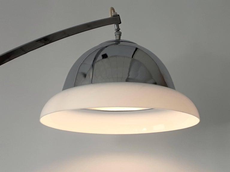 Steel Reggiani Height Ajustable Chrome Floor Lamp , 1960s , Italia For Sale
