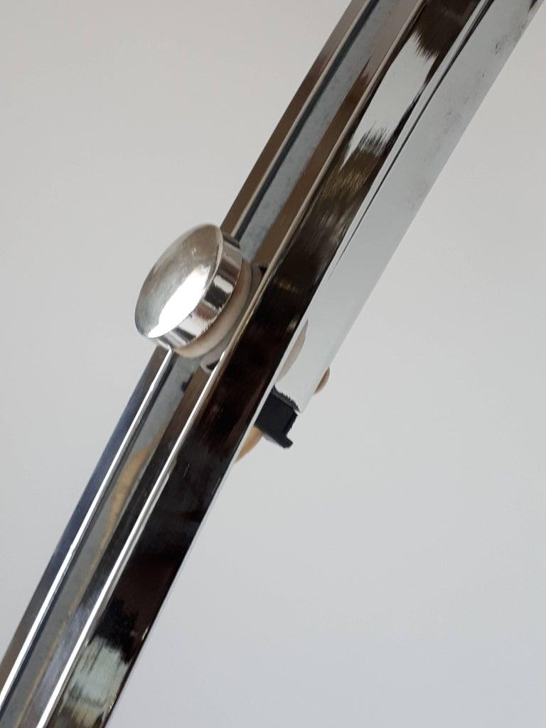 Reggiani Height Ajustable Chrome Floor Lamp , 1960s , Italia For Sale 2