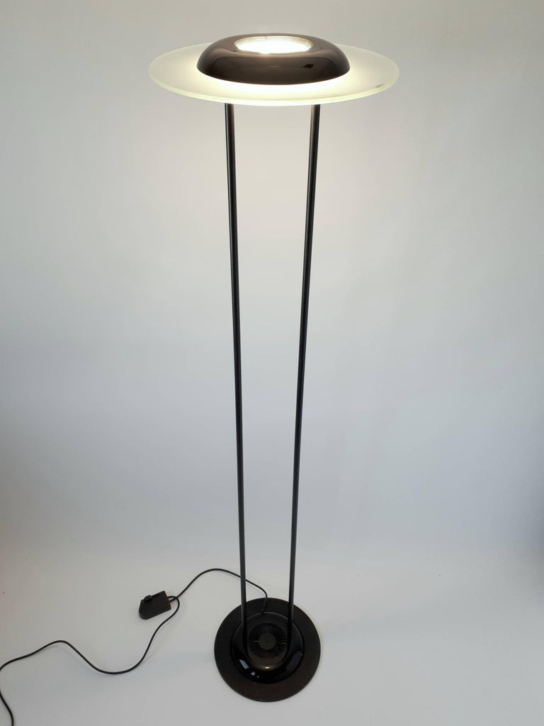 Pair Of Saturn Shaped Tall Halogen Floor Lamp By F Fabian