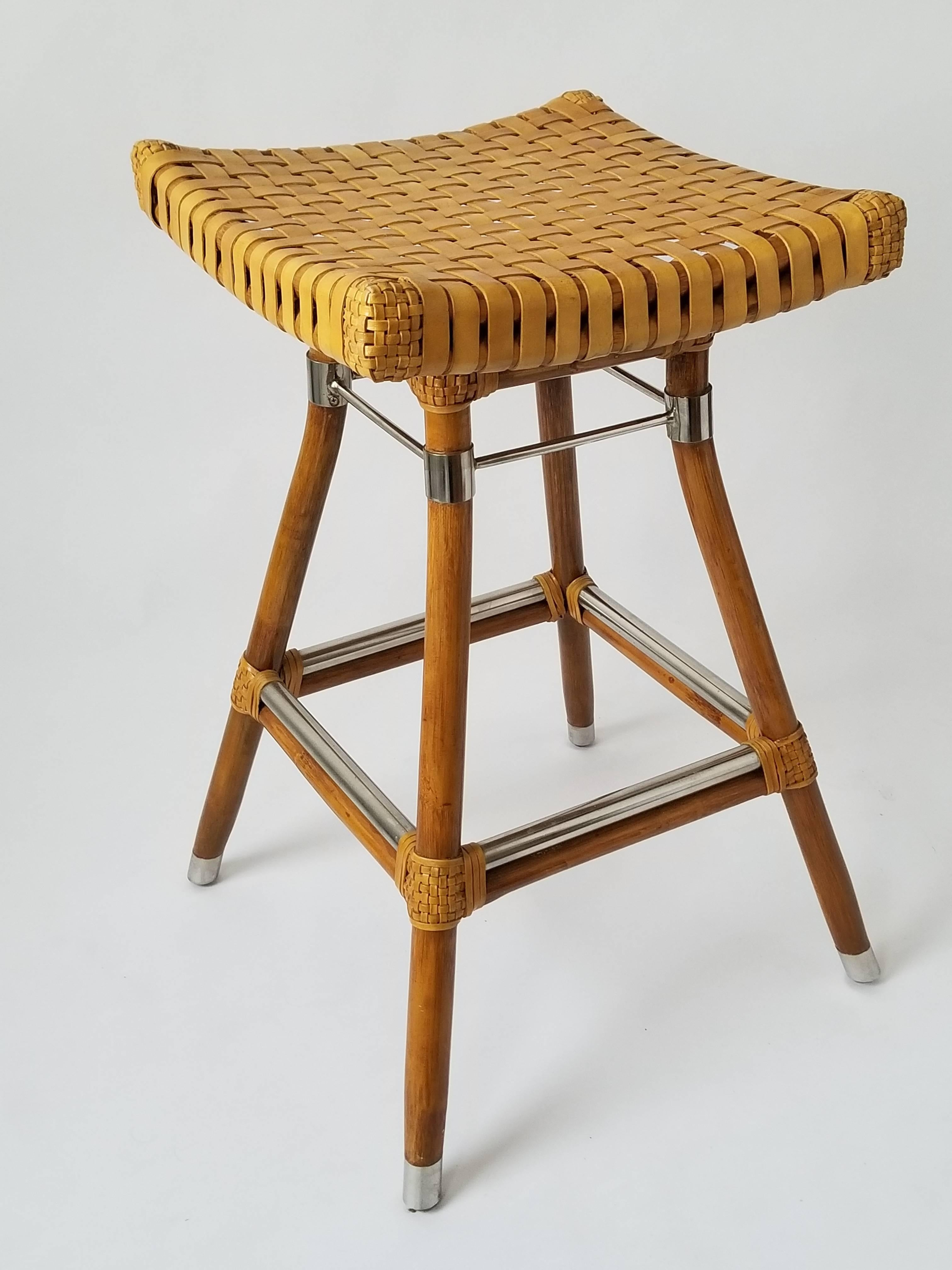 Lovely Faux Bamboo Bar Stools