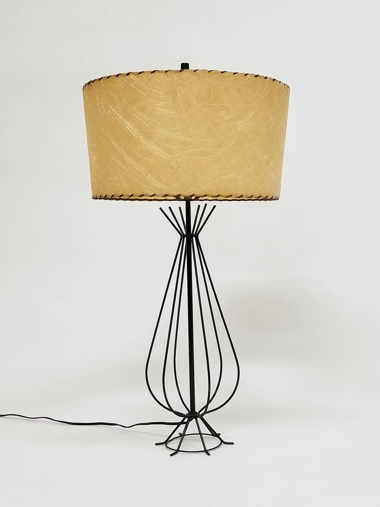 1950s wire table lamp in the style of tony paul usa for sale at 1stdibs enameled wire table lamp with fiberglass shade come with order lamp measure 21 greentooth Image collections