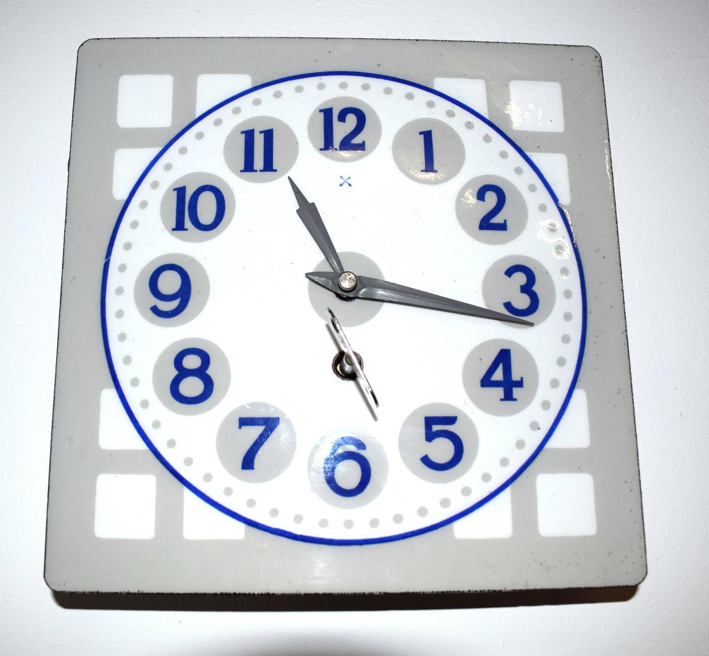 Wall Clock Art Nouveau : Enameled wall clock art nouveau vienna secession for sale