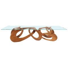 Dining Table Modern Rectangular Wood Glass Crystal Italian Limited Design