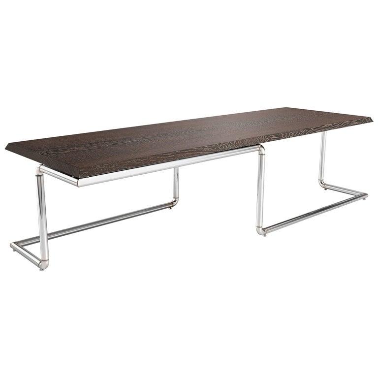 Executive Desk Modern Rectangular Wood Steel Italian Limited Edition Design