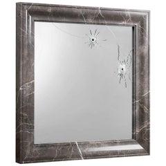 Mirror Wall Square Grey Marble Italian Limited Edition Design, Barberini Gunnell
