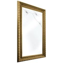 Wall Mirror Classic Frame Rectangular Golden Italian Contemporary Design