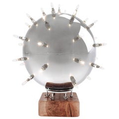 Lamp Modern Spherical Ball Shaped Steel Dimmable Italian Contemporary Design