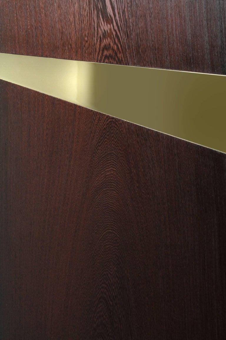 Coffee Table Modern Wood Brass Italian Limited Edition