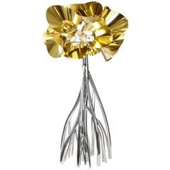 Floor Lamp Contemporary Design Golden Steel Italian Limited Edition Design