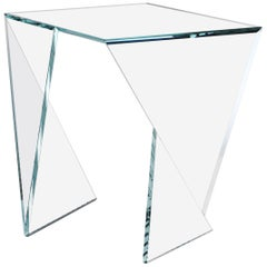 Side Table Glass Crystal Limited Edition Contemporary Design