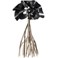 Floor Lamp Steel Carbon Fiber Italian Contemporary Design