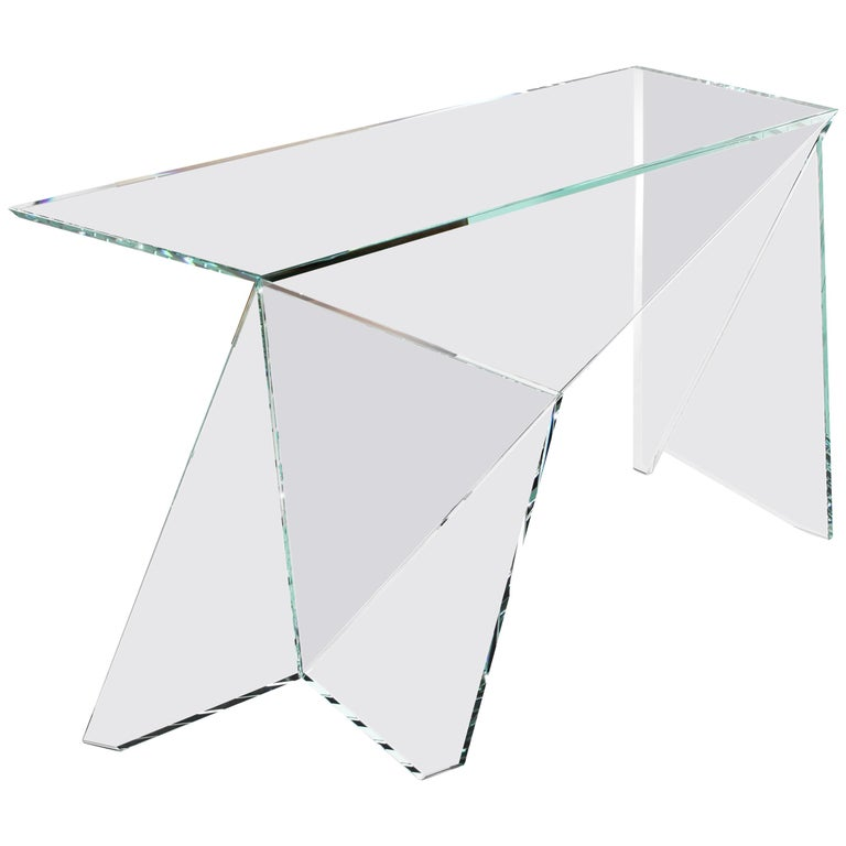 Desk Table Modern Glass Crystal Limited Edition Design For Sale
