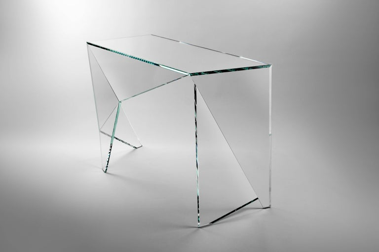 Desk Table Modern Glass Crystal Limited Edition Design For Sale 1
