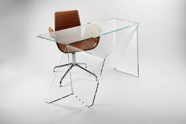 Desk Table Modern Glass Crystal Limited Edition Design For Sale 3