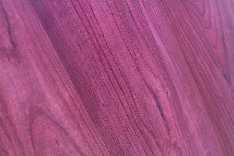 Modern Executive Desk Rectangular Wood Purple Steel Italian Contemporary Design For Sale