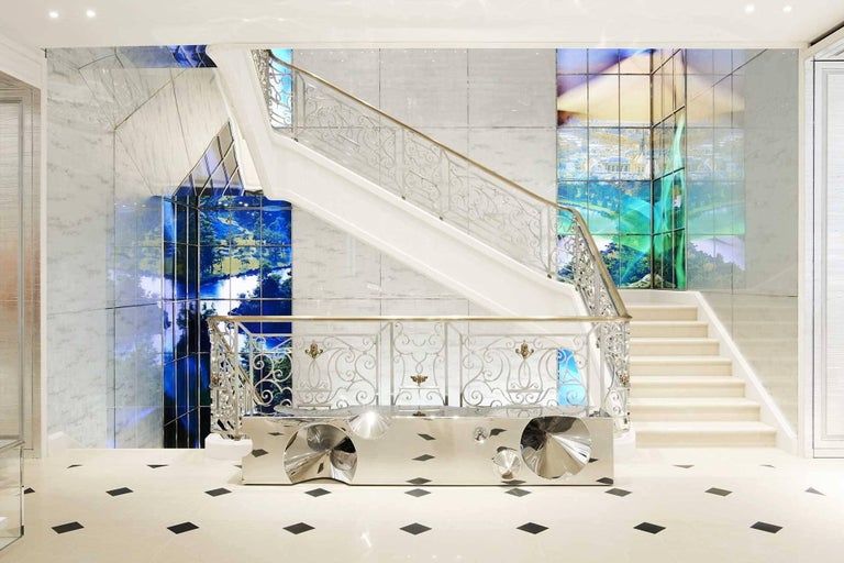 Bench 'Get Lost!' is made of mirror polished stainless steel. Bench dimension: L 257, W 68, H 45cm. Peter Marino selected this sculptural bench for the new flagship store Dior in London. Each bench is hand signed and numbered by the artists. 100%